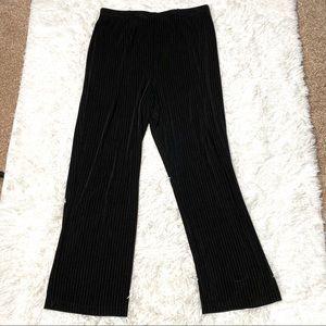 Chico's Travelers Black Pinstripe Pants